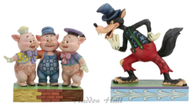 Silly Symphony - Big Bad Wolf & Tree Little Pigs Set van 2 -Jim Shore