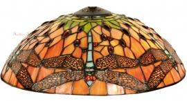 5360 Kap Tiffany Ø30cm Red Green Dragonfly