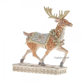 """Woodland Walking Reindeer""H21cm Jim Shore 6001411"