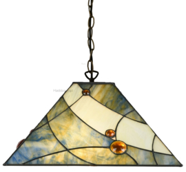 7989 Hanglamp Tiffany 44x44cm Sky Blue