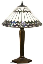 5985 BR13M Tafellamp Brons H55cm met Tiffany kap Ø40cm Musntur