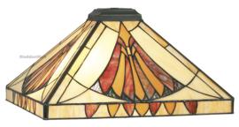 CT10273 Kap Tiffany 36x36cm Art Deco Sun