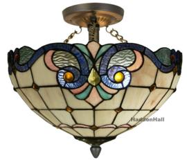 5807 82 Plafonniere Hanglamp Tiffany Ø40cm Blauw