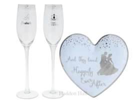 Cinderella Wedding Toasting Glasses & Ring Dish  Enchanting Disney