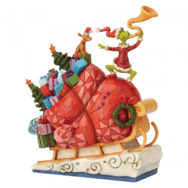 Grinch on Sleigh H23cm Jim Shore 6002069