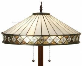 T4P50 9454 Vloerlamp Tiffany  Ronde voet Fargo