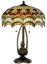 TG67L Tafellamp H60cm met Tiffany kap Ø43cm Vesta
