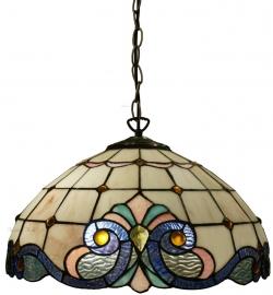 5807 Hanglamp Tiffany Ø40cm Lila Rose en Blauw