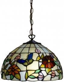 "TV158S-97 Hanglamp Tiffany Ø30cm ""Butterfly"""