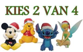 Christmas Figurines H8cm  - Kies 2 van 4 - Enchanting Disney