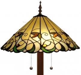 "T095-9454 Vloerlamp Tiffany Ø41cm ""Jamelia"" Ronde voet 5206"