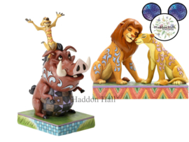 Lion King - Simba & Nala - Timon & Pumbaa - Set van 2 Jim Shore beelden