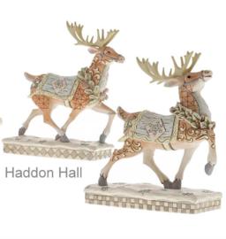 """""""Woodland Reindeer"""" H21cm Set van 2 Jim Shore beelden"""