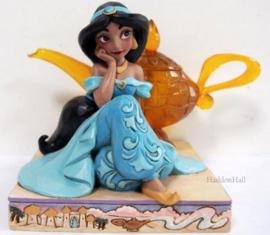 Aladdin - Jasmine & Genie Lamp H10cm Jim Shore 6010097