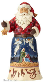 """Joy To The World Santa"" H25,5cm Jim Shore 4058782 uit 2018"