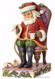 """Santa Reading List in Chair"" H17,5cm Jim Shore 4058786"