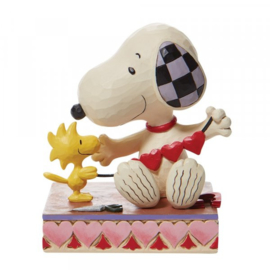 Snoopy with Hearts Garland H12cm Jim Shore 6007937