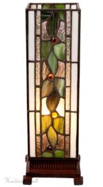 5861 Tafellamp Tiffany H35cm Miniwindlicht Herba