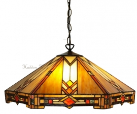 5423  Hanglamp Tiffany Ø58cm  Durban, Art deco motief.