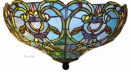 5616-80 Plafonniere Tiffany Ø47cm Downton