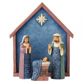 """Blessed Bethlehem"" Set van 4 Nativity H15cm Jim Shore 6004247"