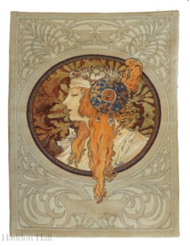 Alphonse Mucha - Wandkleed 90x70cm Byzantine Head - The Blonde - Gobelin geweven