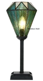 8114 Tafellamp Tiffany Uplight H45cm Ø16cm Arata Green