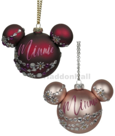 Set van 2 Shinning Minnie Kerstballen - Ø6cm -