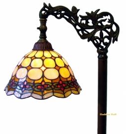 8828 9458 Vloerlamp H164cm met Tiffany kapje Ø26cm