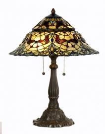 5277 Tafellamp Tiffany H65cm Ø46cm Carlisle