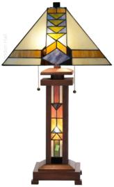 7855 Tafellamp Tiffany H70cm 37x37cm Pyramide