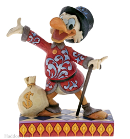 "Uncle Scrooge - Dagobert ""Treasure Seeking..""H16cm Jim Shore 6001285"