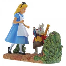 "ALICE Figurine ""Mr. Rabbit, Wait"" H18,5cm Enchanting Disney A29032"