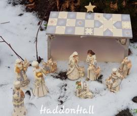 We Adore Him H24cm White Woodland Nativity 8-delig Jim Shore Kerstgroep Kerststal 4053690