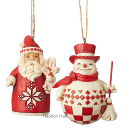 Nordic Noel - Set van 2 Hanging Ornaments - Jim Shore