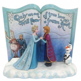 Frozen Act Of Love H16cm Storybook Jim Shore 4049644 Disney Traditions