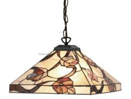 Y14204 97 Hanglamp Tiffany 36x36cm Purple Leaves