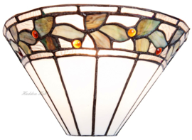 5863 Wandlamp Tiffany B30cm Schelpmodel Herba