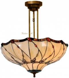 5345 203 Hanglamp Plafonniere Tiffany Ø50cm Black Butterfly