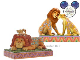 Lion King Simba & Nala - Mufasa & Simba - Set van 2 Jim Shore beelden