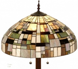 1143 9454 Vloerlamp Tiffany Ø50cm Ronde voet  Art Deco Green