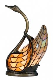 """Tiffany lamp H45cm  """"Zwaan"""" donkergeel  en lichtgeel  9883"""