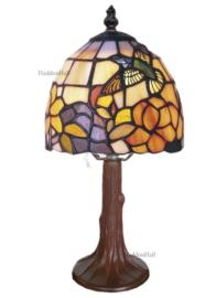 421 Tafellamp Tiffany H30cm Ø16cm Kolibrie