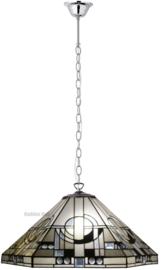 TM25L Hanglamp Tiffany Ø58cm Metropolitan Ketting zilverkleur