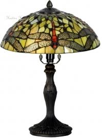 5360GR 9034 Tafellamp Tiffany H37cm Ø30cm Yellow Dragonfly