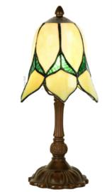 8104 1103 Tafellamp H32cm met Tiffany kap Ø15cm Lovely Flower Yellow