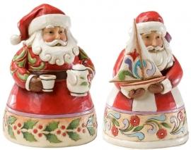 "Set van 2 Pint Santa's H13cm ""Cup of Christmas Cheer""&""Christmas Spirit Fills My Sails"""