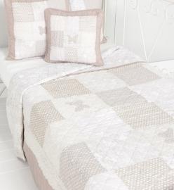 Q160 Clayre & Eef Bedsprei 140 x 220 cm Quilt Patchwork beddesprei