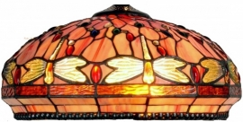 5273 Tiffany kap Ø40cm Red Glass Dragonfly