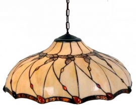 5345 Hanglamp Tiffany Ø50cm Black Butterfly